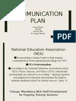 Communication Plan Watson AET 560