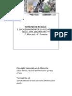 Manuale per la redazione di atti amministrativi