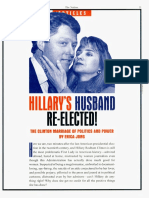 """Hillary's Husband Re-Elected- The Clinton Marriage of Politics and Power"""