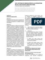 Reglamento FARUSAC  Normativo Para El Sistema de Graduación de Arquitectura
