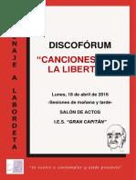 Díptico Discofórum_Canciones para la libertad