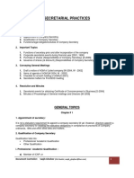 Secretarial Practices Outline