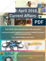 16 April 2016 Current Affairs for Competition Exams