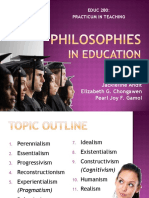 UP EDUC 280 - Educational Philosophies