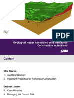 Geological Issues Associated With Trenchless Construction in Auckland - Final