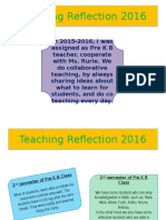 teaching reflection 2016