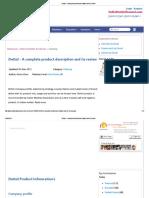 Dettol - A Complete Product Description and Its Review