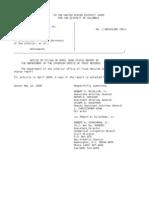 US Department of Justice Court Proceedings - 05152006 notice