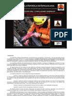 Ensayos mecánicos en anclajes para espeleología y escalada