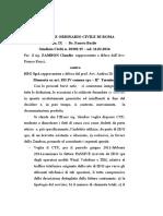 Trib. RM Note n. 2 Ex Art. 183 VI Comma Cpc H3G Spa Rettificato