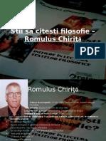 Stii Sa Citesti Filosofie – Romulus Chiriţă