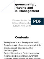 Entrepreneurship , Marketing and Financial Management