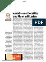 Amiable mediocrities and Goan militarism