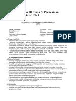 Rpp Sd Kelas III Tema 5