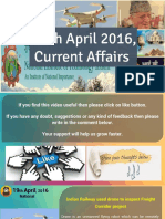 19 April 2016 Current Affairs for Competition Exams
