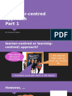 A Learner-centred Approach