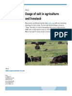 Usage of salt in agriculture and livestock