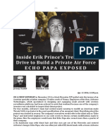 Inside Erik Prince's Treacherous Drive to Build a Private Air Force