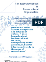 Human Resource Issues in Trans-cultural Organisation