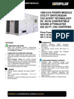 800 KW Containerised Diesel Gen