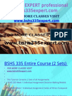 BSHS 335 EXPERT Professional Tutor Bshs335expert.com