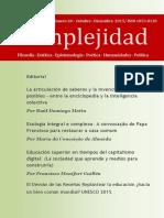 Revista Complejidad Nro 28 -Octubre -Diciembre 2015