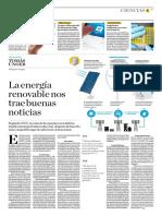 La Energía Renovable Nos Trae Buenas Noticias