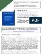 A Paradigm inA paradigm in crisis, Israel's doctrine of military decision  Crisis, Israel's Doctrine of Military Decision - A.kober