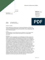 Kamerbrief staatssecretaris Dijksma over Vierde Spoorpakket