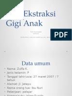 DST Exodontia Anak