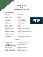 Curriculum Vitae for Ntombi