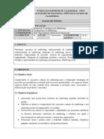 PLANO de ENSINO - Fundamentos Do Marketing
