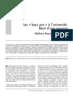 Beaud Pialoux Les «Bacs Pro» à l'Université