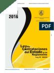 Ley N 30225 y Su Reglamento 2016 Ley de Contrataciones