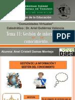 Diapositivas del equipo 11. Gestión de Información y Conocimiento.