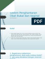 Sistem Penghantaran Obat Bukal Dan Vaginal