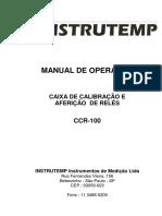 Manual Caixa Calibração de Rele 100