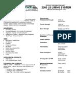 2300 LS Info Sheet