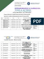 Tabel Sc Altfel 2016