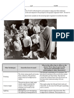 film and picture clip analysis