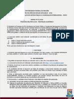Edital Pgpci - Mestrado 2016