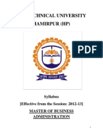 Hptu Mba Final Syllabus