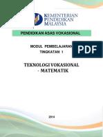 Modul PAV T1 Matematik