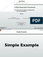 JIOWA Test Data Generation Framework