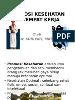 1. Promosi Kesehatan Kerja