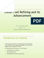diesel fuel refining and its advancement