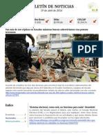 Boletín de noticias KLR 19ABR2016