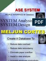 MELJUN CORTES SAD with Database Design