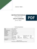 Manual D30 - 880878_D30 PV-C2DE2
