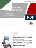 Principles of the OptiX ASON (OSN)